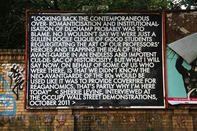 Robert Montgomery, 'Sherrie Levine Poem (Occupy Wall Street)', 2012
