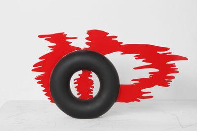 Fausta Squatriti, 'Anello di fumo rosso (Red smoke-ring)', 1968