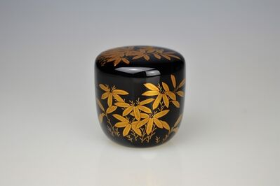 Ippyōsai VII Eizō, 'Gold Lacquer Tea Caddy with Bamboo', 1990-1999