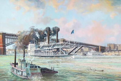 Michael Blaser, 'St. Louis, Steamer, Alton, 1908', 20th Century