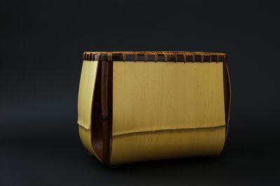 Matsumoto Hafū, 'Noshitake bamboo flower vase 'Angu ( Temporary Palace )'', 2017