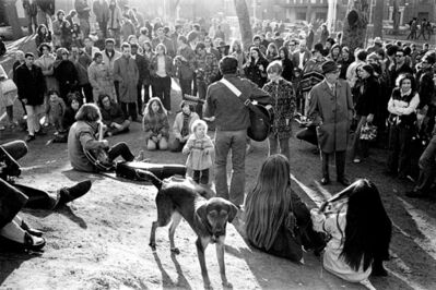 Hervé GLOAGUEN, 'Sunday afternoon in Washington square, NY 1970', 1970
