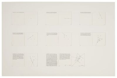 "Sol LeWitt, 'Working Drawings for book, ""Location of Eight Points""', 1974"