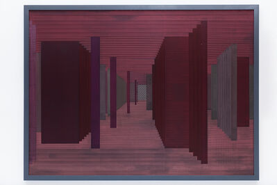 Janaina Mello Landini, 'Labirintos Rizomáticos série II C - vermelho [red]', 2014