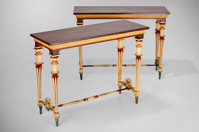 Unknown Italian, 'Set of two console tables and six stools', ca. 1800