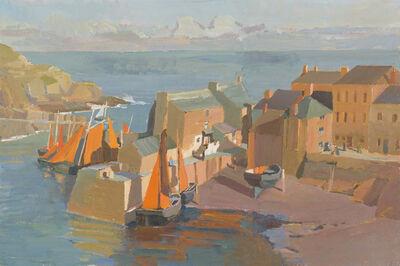 Jörg Ernert, 'Abend im Fischerhafen 1. Fassung (Evening in the fishing harbour 1. version)', 2018