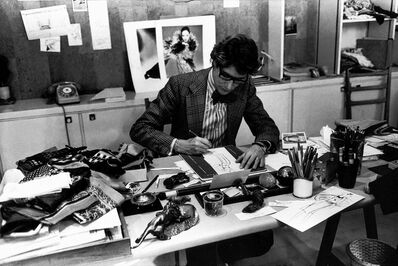 Yves Saint Laurent, 'The Couturier at Work in his Studio 5 Avenue Marceau, Paris', 1976