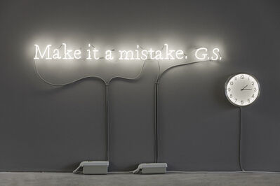 Joseph Kosuth, ''Existential time #10' | Make it a mistake. G.S.', 2019