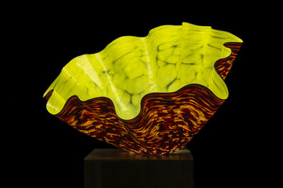Dale Chihuly, 'Dale Chihuly Dandelion Macchia with Black Lip Wrap Original Handblown Glass Signed Contemporary Art', 1990-2010
