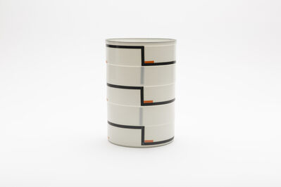 "Bodil Manz, 'Cylinder No. 3a ""Black and orange""', 2018"