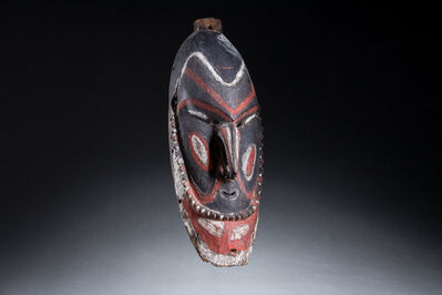 Oceanic Art, 'Old New Guinea Tribal Mask, Manam Island, Oceanic Art, New Guinea Art', early 20th century