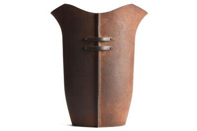 Soichi Tsukio, 'Japanese Hummered Iron Vase'