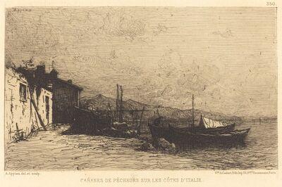 Adolphe Appian, 'Cabanes de pecheurs sur les cotes d'Italie'