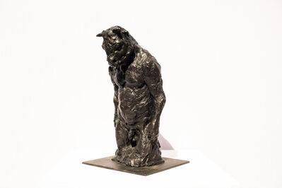 Beth Carter, 'Standing Minotaur 3/4 study on steel base', 2018