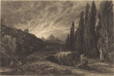Samuel Palmer, 'The Weary Ploughman, or The Morning Spread Upon the Mountains', in or before 1861