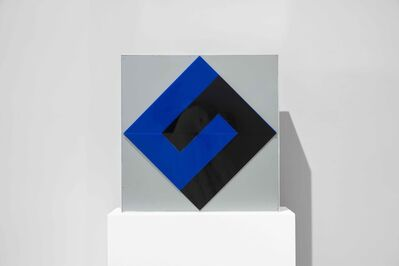 "Fletcher Benton, 'Interlocking ""L"", Black and Blue', 1970"