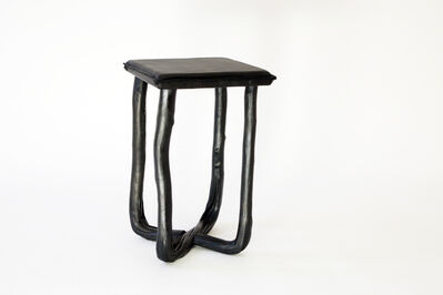 Johannes Hemann, 'Pressed Wool Black Stool', 2014