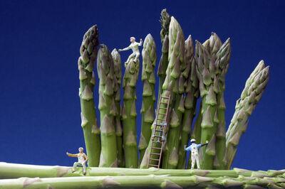 Christopher Boffoli, 'Asparagus Painters', 2013