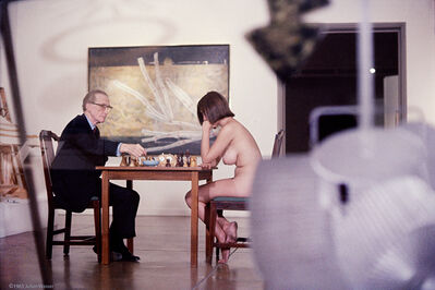 Julian Wasser, 'Marcel Duchamp And Eve Babitz (1963) Color', 1963
