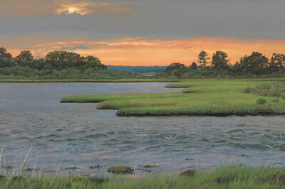Cindy House, 'Summer Sunset', Active Contemporary
