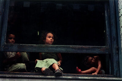Helen Levitt, 'N.Y.C. (girls in window)', 1959