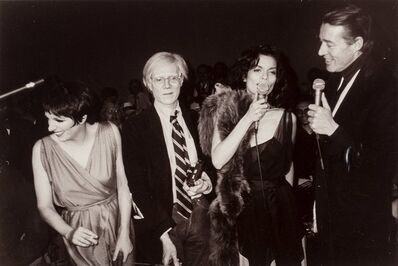 Christopher Makos, 'The Gang of Four at Studio 54 (Liza Minelli, Andy Warhol, Bianca Jagger, and Halston), April 27', 1978