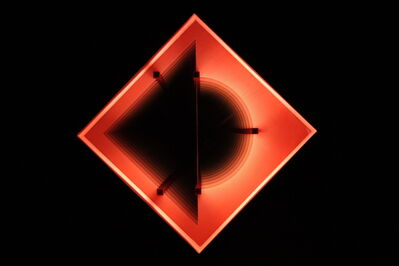 Kenneth Emig, 'Half and Half - Illuminated, symmetrical, geometric forms in glowing red', 2013