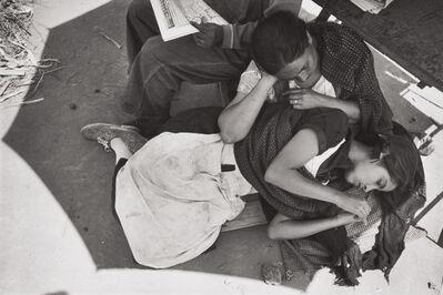Henri Cartier-Bresson, 'Newspaper vendors, Mexico City, Mexico', 1934