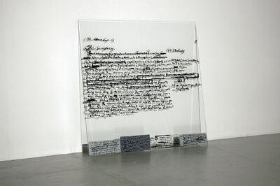 Joseph Kosuth, 'F.W.M.B. (Self-Cancelled)', 1993