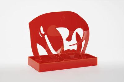 Allen Jones, 'Red Acrylic Head', 2015