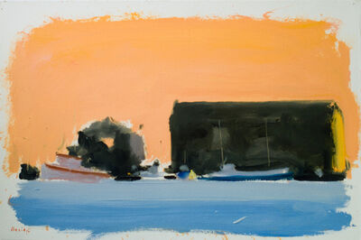 Paul Resika, 'Provincetown Pier with Boats', 1984-1985