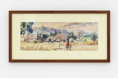 Durant Sihlali, 'Mount Frere (Transkei Townscape in Winter)', 1975