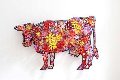 David Gerstein, 'Floral Cow', 1998