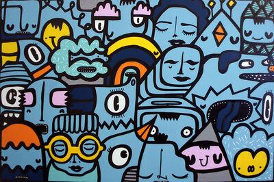 Kev Munday, 'Sea Blue Crowd', 2020