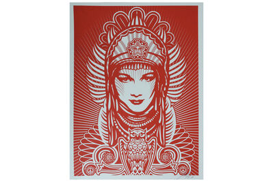 Shepard Fairey, 'Peace Goddess (Red)', 2007