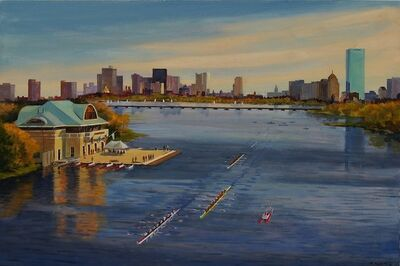 Frederick Kubitz, 'BU Boathouse, Head of Charles Regatta', 2018