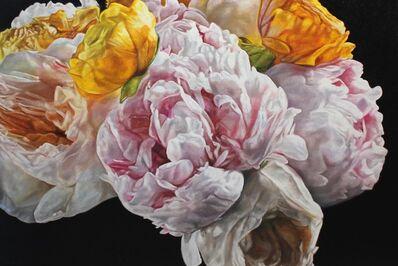 robert lemay, 'Peonies, Roses and Ranunculus', 2019