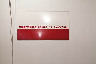 Philippe Thomas, 'Readymades belong to everyone® Untitled, ALAIN CLAIRET', 1987