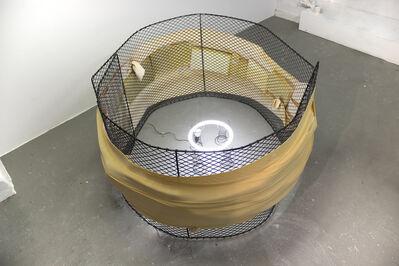 Bat-Ami Rivlin, 'Untitled (Fence, foam, springs, LED, ballast, chord, polyfil)', 2018