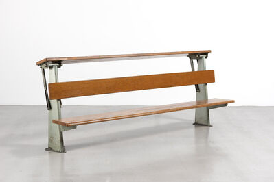 Jean Prouvé, 'Lecture hall bench with pivoting writing desk', ca. 1953