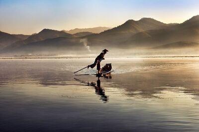 Steve McCurry, 'Intha Fisherman on Inle Lake, Burma', 2011