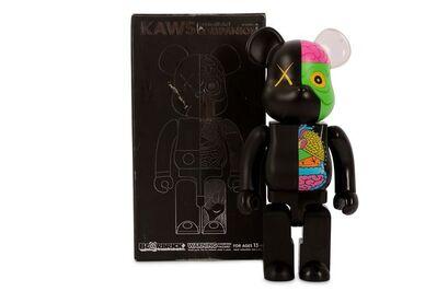 KAWS, 'OriginalFake Dissected Bearbrick Companion 400% (Black)'