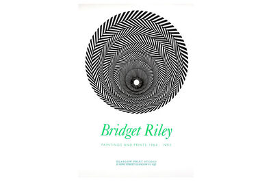 Bridget Riley, 'Glasgow Print Studio Poster for Bridget Riley Paintings and Prints 196'