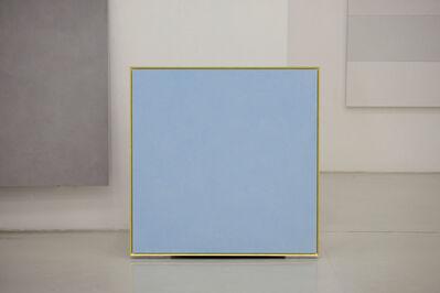 Ettore Spalletti, 'Il colore e l'oro, azzurro tenue', 2016