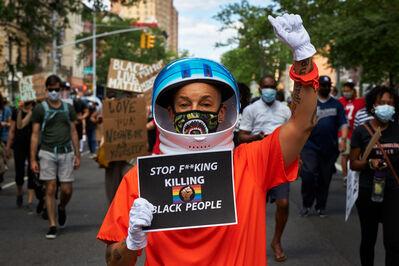 Lola Flash, 'BLM Demo in Harlem', 2020
