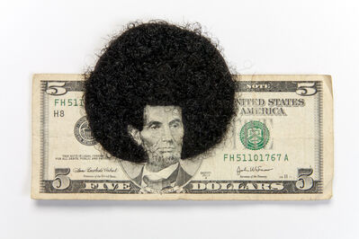 Sonya Clark, 'Afro Abe with human Hair', 2012