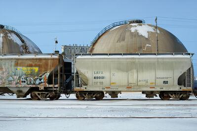 David Kutz, 'Retro #4311; Milwaukee, WI  USA; February 2014; 43,0.8346N; 87,53.8651W'