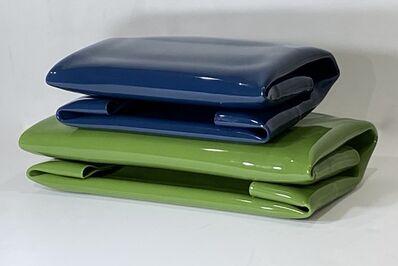 Mimi Herbert, 'Blue Fold on Green', 2020