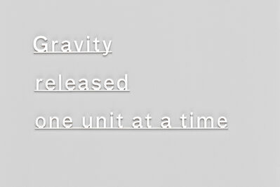 Katie Paterson, 'Gravity released one unit at a time', 2015