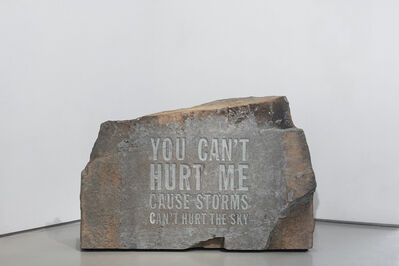 John Giorno, 'YOU CAN'T HURT ME CAUSE STORMS CAN'T HURT THE SKY', 2019